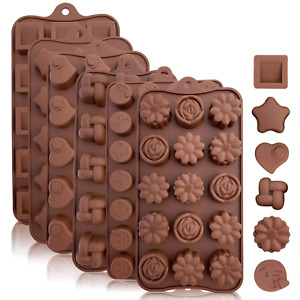18Shapes Cute Silicone Chocolate Molds Cake Decorating/Baking Molds Kitchen Tool
