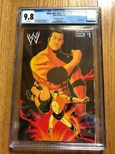 WWE Then Now Forever #1 Boom! Studios The Rock CGC 9.8 1:10 Variant Cover