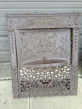 Very Decorative Cast-Iron Fire From Insert With Dragons Antique Ci 12