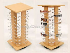 Sunglasses Racks Display Stand Case Square  Wooden Spinning Rack #MZ5050-4-SU