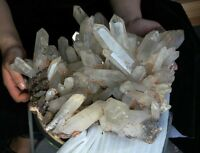 28.6lb The rare natural beautiful transparent skeletal crystal.Cluster specimen
