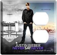 Justin Bieber Never Say Poster Light Switch Outlet Combo Teenage Girl Room Art