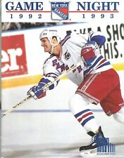 1992-93 Madison Square Garden New York Rangers vs Pittsburg Penguins Program