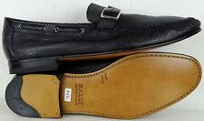 BALLY Schuhe Herren Loafers Leder Monks Mokassins Businesschuhe Black Gr.45 NEU
