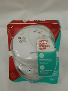 First Alert 1044086 Interconnected Smoke & Carbon Monoxide Alarms 2-pack