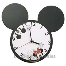 Disney Mickey Minnie Mouse Shaped Deco Wall Clock Fun Time Clock