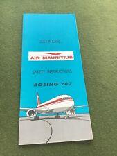 safety card air mauritius b767