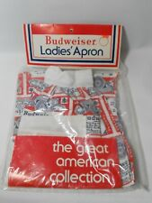 Rare Vintage Factory Sealed Budweiser Bud Beer Ladies Apron Nos New 1980's?