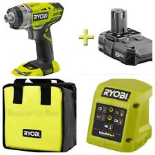RYOBI 18v Lithium Cordless Impact Driver Set With Battery & Charger