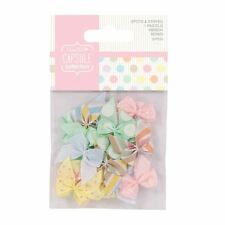 Bows Papermania 20 Piece Ribbon with Spot & Stripe Pastels Multi-Color PMA367204