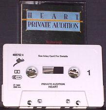 Heart Private Audition CASSETTE ALBUM Psychedelic Rock Prog Rock Epic 460702 4