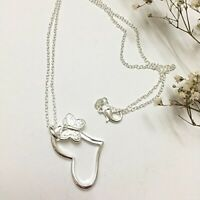 Heart Butterfly Pendent