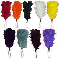 """Feather bonnet plume hackle 12/"""" Blanc Bleu Couleurs//chapeaux Plume hackle Head Wear"""