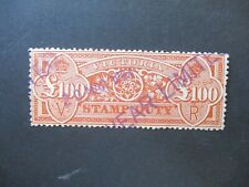 Victoria Stamps: £100 Stamp Duty Variety Used  - Must Have  (n787)