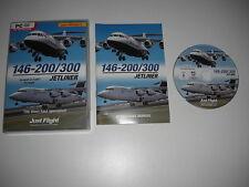 146-200/300 JETLINER Pc DVD Rom Add-On Microsoft Flight Simulator Sim X FS FSX