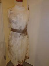 Taifun Damen Kleid Gr: 38; Weiß-Silber