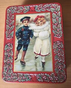 Vintage Empty Christmas Sweet Tin.