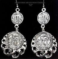 Orecchini Monete Argento Calabria Magna Grecia Silver Coins Pieces Earrings