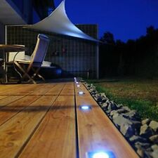 3 x Garden Patio Driveway Bright White Solar Powered Led Decking Deck Lights