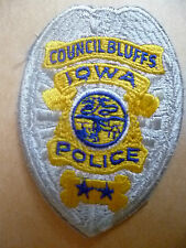 Patches: COUNCIL BLUFFS IOWA US State POLICE PATCH (NEW* apx.9x6 cm)