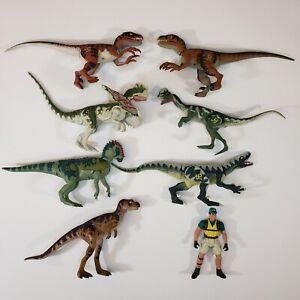 Vintage Kenner & Hasbro Jurassic Park Dinosaur Lot Velociraptor, Spitter, T Rex