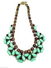 Vtg Juliana Haskell Bib Necklace Jadeite & Amber Women Jewelry 1950s Mid Century