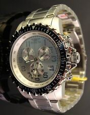RARE INVICTA MEN SPECIALTY NUMBERED LIMITED EDITION 45 MM SILVER DIAL-BLUE BEZEL