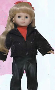 Red and Black 3pc Pants Set  Fits 18 inch American Girl Dolls