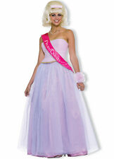 Prom Queen Gown 50's Style 4 Pc Pink Skirt Strapless Bodice Sash & Corsage Med
