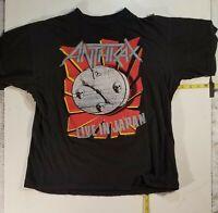 Vtg  Anthrax Japan tour shirt  NOT  a  reprint. SLAYER  Iron Maiden