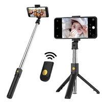 bluetooth Wireless Selfie Stick Extendable Tripod Remote Shutter Phone Holder