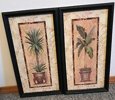 Homco Home Interiors Set of 2 Prints Pictures Artist Joan Cole Tropical Plants