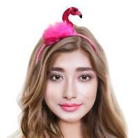 Mujer Animal Pájaro Sombrero Disfraz Flamingo Headband Fiesta Foto Selfie Prop