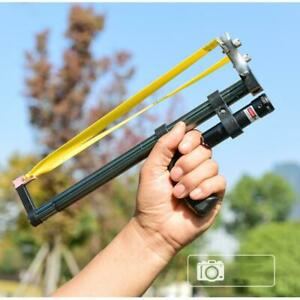 Outdoor Hunting Straight Rod Telescopic Slingshot High Power Red Laser Catapult