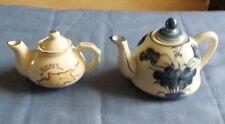 Two Souvenier Miniature Teapots, Ornamental, Cyprus & Thailand