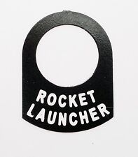 Land Rover series Classic kit car ROCKET LAUNCHER switch tag
