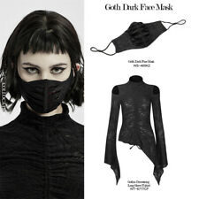 Punk Rave Gothic Daily Style Face Accessories Adjustable Buckle Black Red Mask