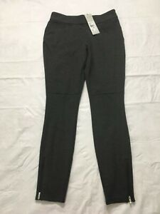 Adidas Golf Womens Novelty Pullon Pants Size XS Black Ankle Zip Stretch NWT