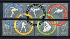 Romania 1960 SG#2717B-2721B Olympic Games Imperf MNH Set #A40807