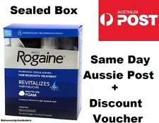 Rogaine/Regaine Foam Men's Hair Loss Treatment Minoxidil 5% 4 Months SEALED BOX