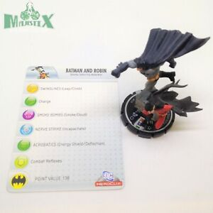 Heroclix Justice League set Batman and Robin #038 Rare figure w/card!