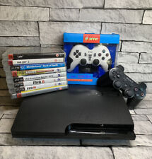 Sony PS3 CECH-3003A Black Slim Console plus 8 games Bundle 2 Controllers BUNDLE