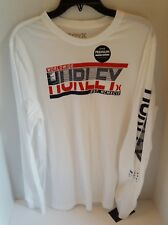 NEW Hurley Men's Long Sleeve Cotton White Shirt Premium Fit World Wide L