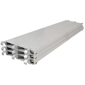 MetalTech Scaffold Platform Plank 7' x 19'' Lightweight Aluminum Outdoor 3 Pcs