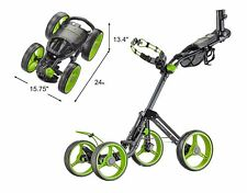 CaddyTek SuperLite Deluxe 4 Wheel Golf Push Cart Ver. 2, The Explorer V2, LIME