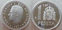 Año 1987. 1 peseta E 87 de la FNMT. III Exposición Nacional de Numismática.