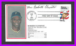 ROBERTO CLEMENTE: 1st day cover by TCMA Ltd.- signed by Vera Clemente- SC#2097