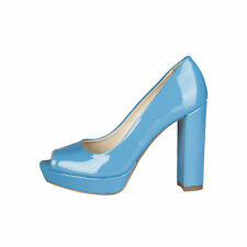 Zapatos de tacón de mujer plataformas de color principal azul Talla 40
