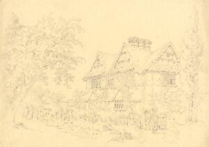 Alexander Monro, Pickersleigh House, Great Malvern – 1831 graphite drawing