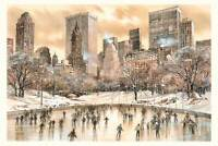 Wollman Rink Watercolor Painting by Roustam Nour | Free Shipping